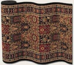 Couristan Royal Kashimar Antique Nain Black 8199-2599 Custom Length Runner