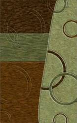 Rugstudio Riley DL14 Mocha-Fern-Caramel-Aloe Area Rug