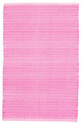 Dash And Albert C3 Herringbone Indoor-Outdoor Fuchsia Area Rug