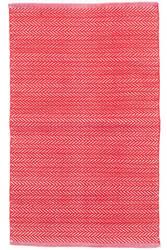 Dash And Albert C3 Herringbone Indoor-Outdoor Red Area Rug
