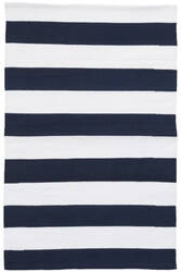 Dash And Albert Catamaran Indoor-Outdoor Navy - White Area Rug