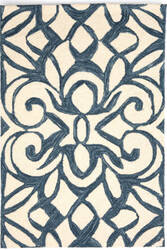 Dash And Albert Chandelier Ink Blue Area Rug