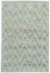 Dash And Albert Chevron Woven Aqua Area Rug