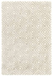 Dash And Albert Cut Diamond Tufted Silver Area Rug