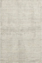 Dash And Albert Cut Stripe Knotted Silver Area Rug