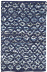 Dash And Albert Denim Rag Woven Indigo Area Rug