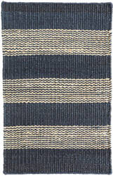 Dash And Albert Denim Ticking Woven Blue Area Rug