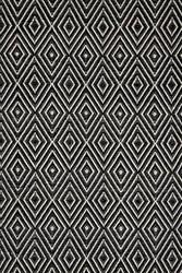Dash and Albert Diamond 56187 Black/Ivory Area Rug