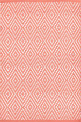 Dash And Albert Diamond 105493 Coral/White Area Rug