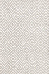 Dash And Albert Diamond 64413 Platinum/White Area Rug