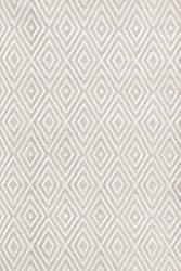 Dash And Albert Diamond 64413 Platinum/White Area Rug