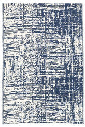 Dash And Albert Drybrush Cotton Blue Area Rug