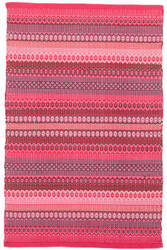 Dash And Albert Fiesta Stripe Indoor - Outdoor Fuchsia-Red Area Rug