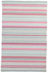 Dash And Albert Fiesta Stripe Indoor - Outdoor Sky-Fuchsia Area Rug