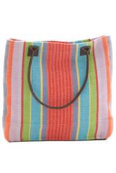 Dash and Albert Garden 60366 Stripe Woven Cotton Tote Bag