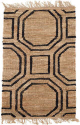Dash And Albert Hexile Knotted Natural Area Rug