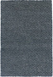 Dash And Albert Honeycomb Woven Indigo - Grey Area Rug