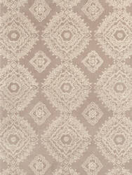 Dash And Albert Lace Medallion Gray Area Rug