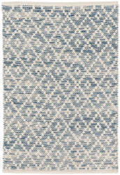 Dash And Albert Melange Diamond Woven Blue Area Rug