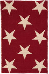 Dash And Albert Star Rdb343 Red - Ivory Area Rug