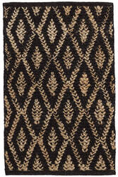 Dash And Albert Two-Tone Diamond Black - Natural Area Rug