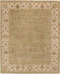 Due Process Amritsar Agra Light Green - Ivory Area Rug