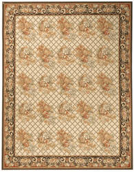 Due Process Aubusson Lyon Ivory - Charcoal Area Rug