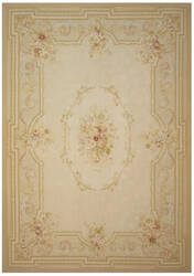 Due Process Aubusson Clermont Cream - Rose Area Rug