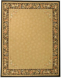 Due Process Aubusson Rennes Gold - Black Area Rug