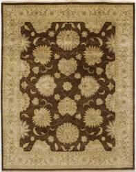 Due Process Benares Agra Brown - Ivory Area Rug