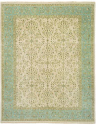 Due Process Benares Sarouk Ivory - Light Blue Area Rug