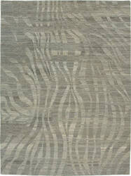 Due Process Elemental Takri Natural - Grey Area Rug