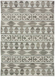 Due Process Flatweave Andalusian 1 Grey Area Rug
