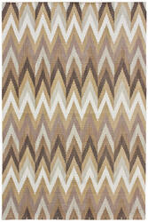 Due Process Flatweave Flame Stitch Burnt Umber Area Rug