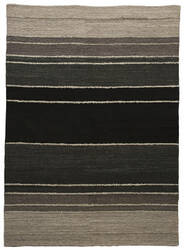 Due Process Flatweave Knotted Band Charcoal Area Rug