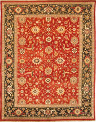 Due Process Jinan Bidjar Red - Dark Green Area Rug