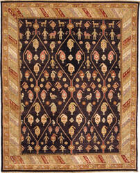 Due Process Jinan Kuba Brown - Gold Area Rug