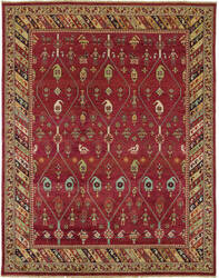 Due Process Jinan Kuba Red - Brown Area Rug