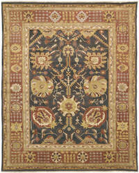 Due Process Jinan Tabriz Brown - Rust Area Rug