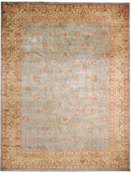Due Process Kalasha Tabriz Soft Blue - Gold Area Rug