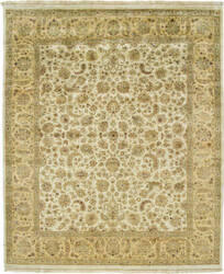 Due Process Kashmir Kashan Beige - Gold Area Rug