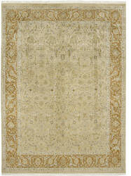 Due Process Kashmir Nain Gold - Rust Area Rug