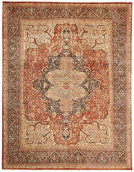 Due Process Khyber Ferrahan Salmon - Blue Area Rug
