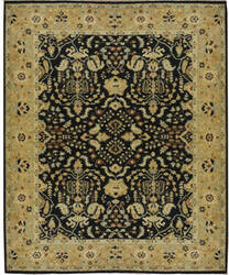 Due Process Malayer Sarouk Black - Gold Area Rug