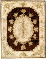 Due Process European Belvoir Brown - Cream Area Rug