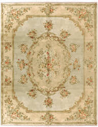 Due Process European Belvoir Celadon - Bisque Area Rug