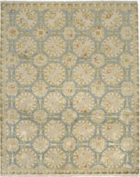 Due Process European Fairfax Steel - Cream Area Rug