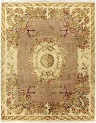 Due Process European Plantation Coral - Ivory Area Rug