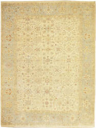 Due Process Peshawar Lahore Ivory - Light Blue Area Rug