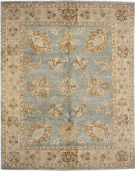 Due Process Supershine Oushak Aqua - Beige Area Rug
